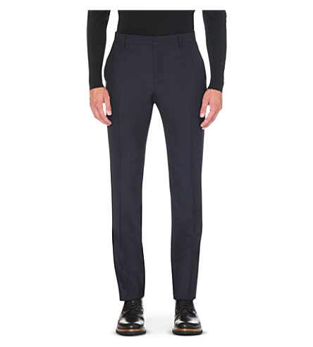 PAUL SMITH LONDON Tailored-fit wool trousers (Navy