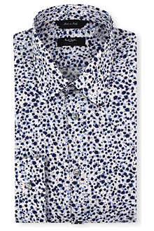 PAUL SMITH Modern-fit paint splattered shirt