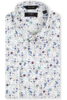 PAUL SMITH The Byard floral-print tailored-fit shirt