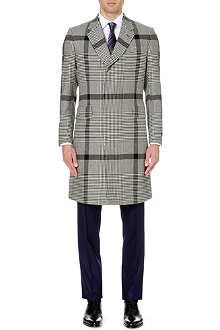 PAUL SMITH LONDON Houndstooth check wool coat