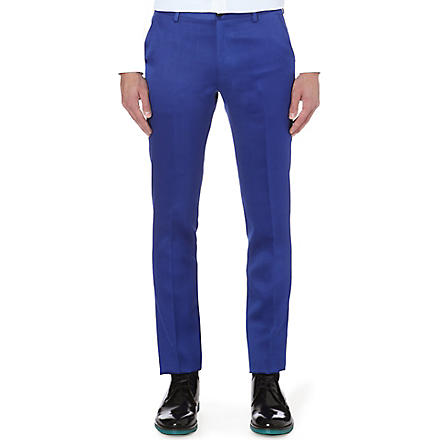 PAUL SMITH MAINLINE Masters wool and silk-blend trousers (Blue