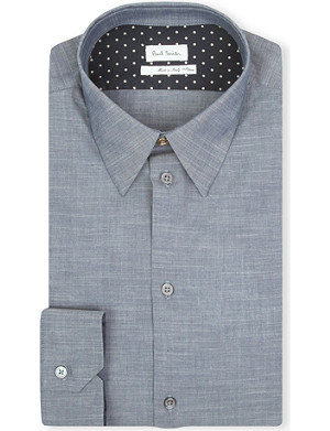 PAUL SMITH MAINLINE Masters chambray polka-dot shirt