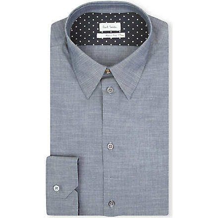 PAUL SMITH MAINLINE Masters chambray polka-dot shirt (Blue