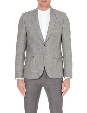 PAUL SMITH MAINLINE Prince of Wales check mohair and wool-blend jacket