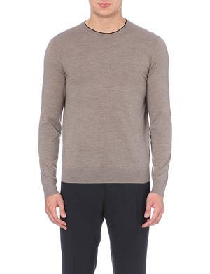 PAUL SMITH LONDON Contrast-trim merino wool jumper