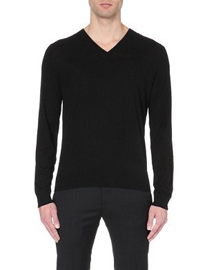 PAUL SMITH LONDON V-neck merino wool jumper