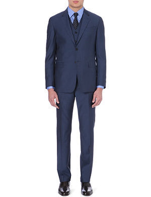 PAUL SMITH LONDON Three-piece wool and mohair-blend suit