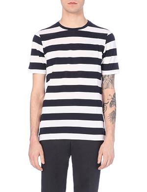 PAUL SMITH LONDON Breton-striped cotton-piqué t-shirt