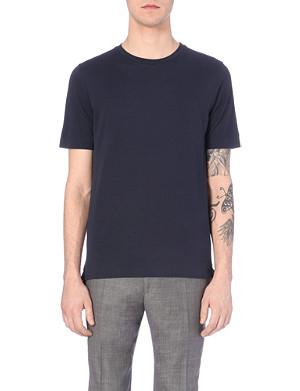 PAUL SMITH LONDON Crew-neck cotton-piqué t-shirt