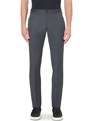PAUL SMITH MAINLINE Slim-fit tapered wool trousers