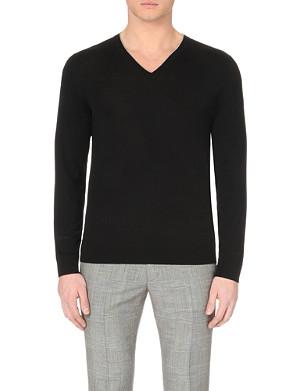 PAUL SMITH LONDON V-neck merino wool jumper