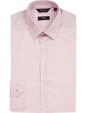 PAUL SMITH LONDON Striped tailored-fit cotton-twill shirt