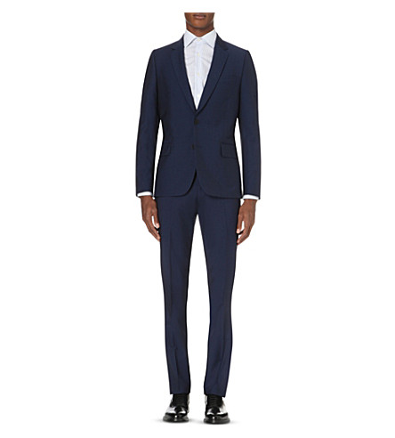 PAUL SMITH Soho-fit single-breasted wool and mohair-blend suit (Navy