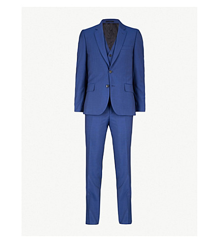 PAUL SMITH Byard wool and mohair-blend 3-piece suit (High+blue