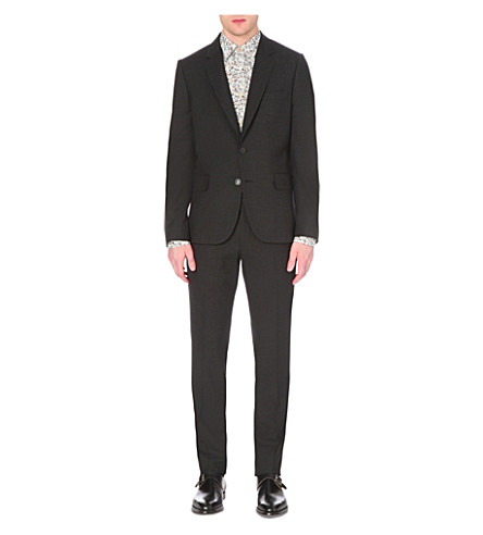PAUL SMITH Soho-fit wool travel suit (Charcoal