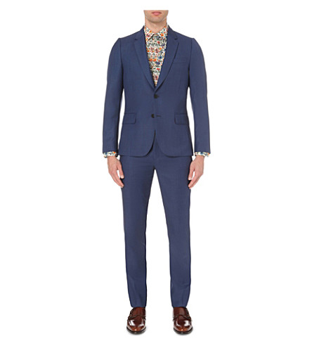 PAUL SMITH Soho-fit wool suit (Brt+blue