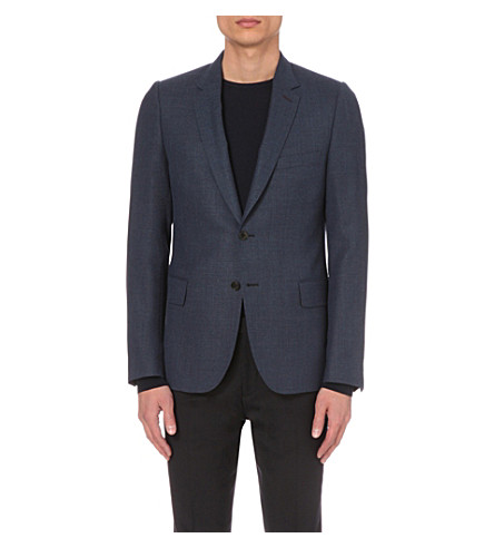 PAUL SMITH Soho-fit wool jacket (Brt+blue