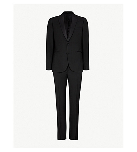 PAUL SMITH Soho-fit wool and mohair-blend tuxedo (Black