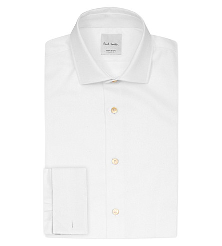 PAUL SMITH Soho-fit cotton-twill shirt (White