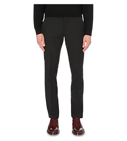 PAUL SMITH Soho-fit cotton travel suit trousers (Charcoal