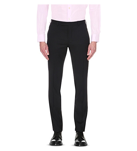 PAUL SMITH Soho-fit cotton travel suit trousers (Navy
