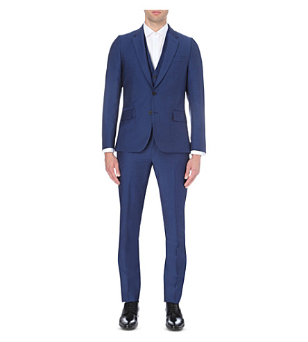 PAUL SMITH Soho-fit wool and mohair-blend suit (Brt+blue