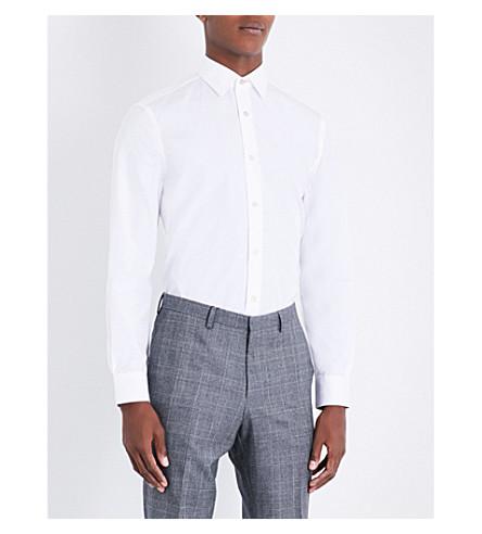 PAUL SMITH Slim-fit cotton Oxford shirt (White