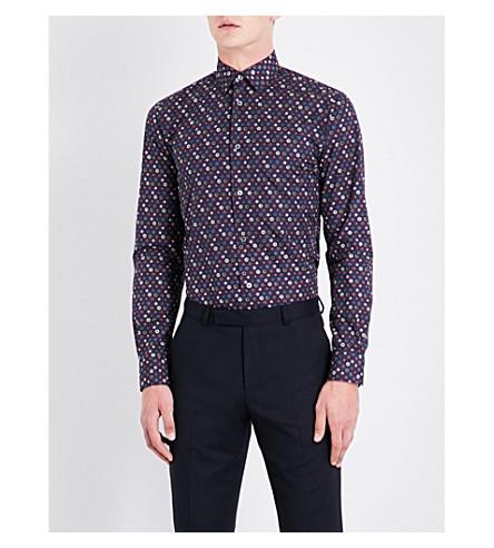 PAUL SMITH Floral soho-fit cotton shirt (Blue