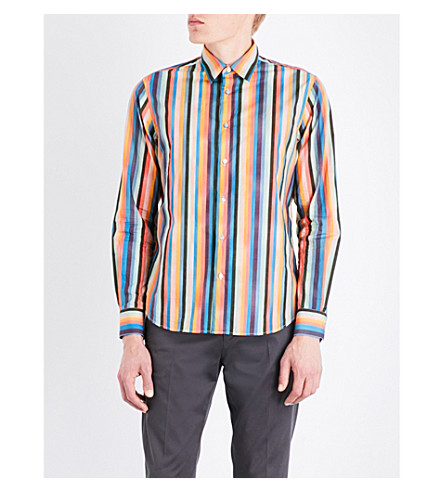 PAUL SMITH Striped regular-fit cotton shirt (Multi