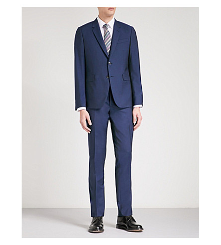 PAUL SMITH Kensington-fit wool suit (Bright+blue