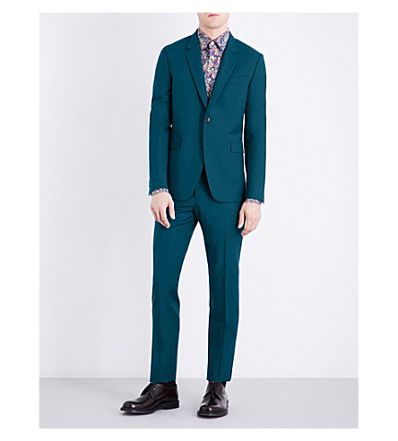 PAUL SMITH Kensington-fit wool suit (Dark+green