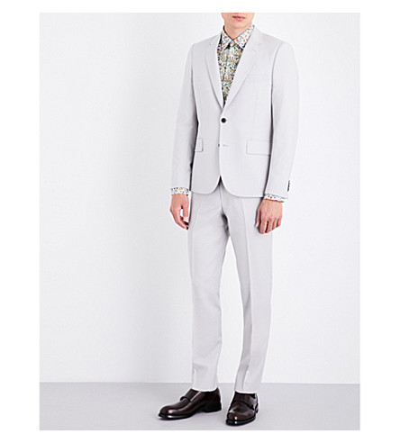 PAUL SMITH Soho-fit wool and mohair-blend suit (Off+white