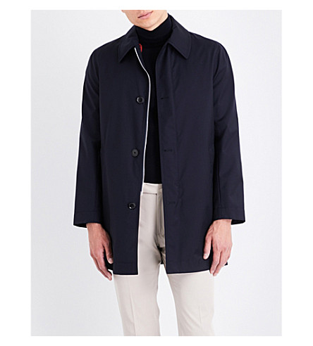 PAUL SMITH Loro Piana Storm System wool-twill mac (Navy