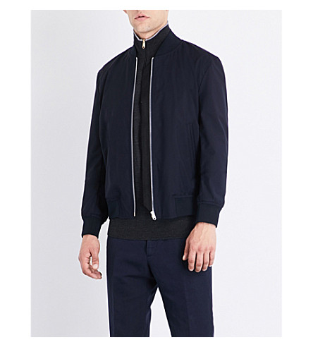 PAUL SMITH Cotton bomber jacket (Navy