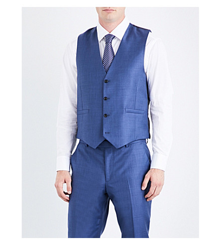 PAUL SMITH Soho-fit wool waistcoat (Blue