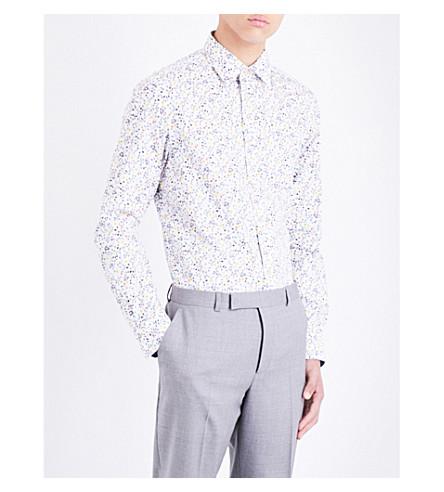 PAUL SMITH Floral-print Soho-fit cotton-poplin shirt (White