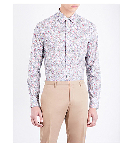 PAUL SMITH Micro florals Soho-fit cotton shirt (Multi