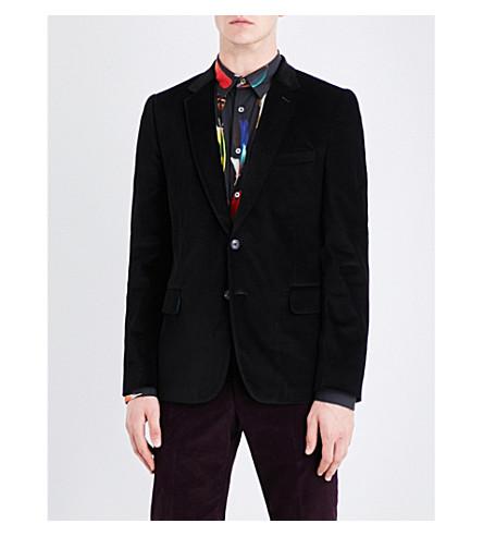 PAUL SMITH Single-breasted Soho-fit velvet jacket (Black