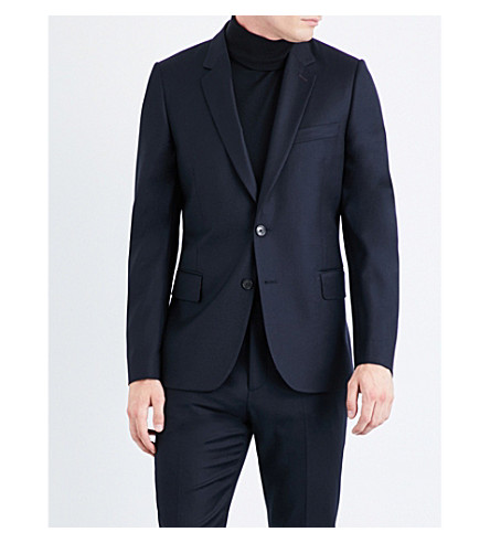 PAUL SMITH Soho-fit wool and cashmere-blend jacket (Navy