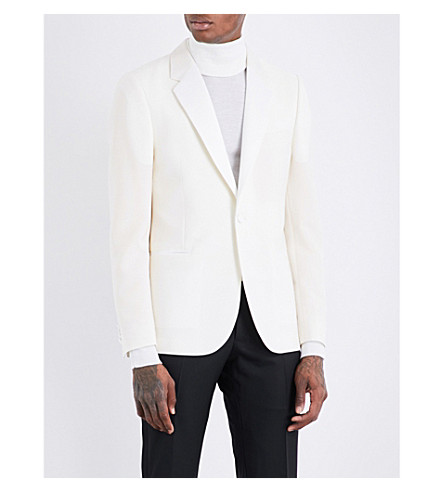 PAUL SMITH Soho-fit mohair and wool-blend jacket (White
