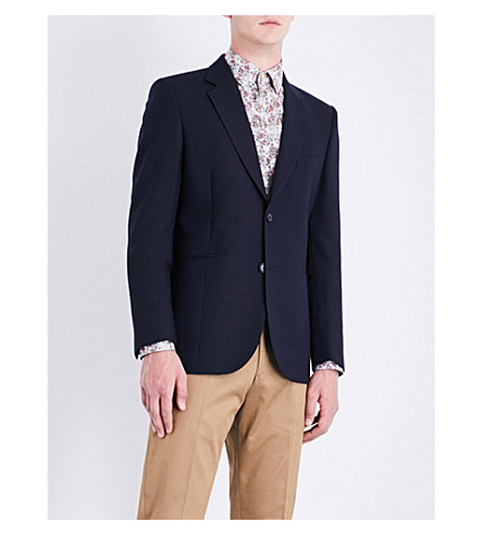 PAUL SMITH Hopsack regular-fit wool jacket (Navy