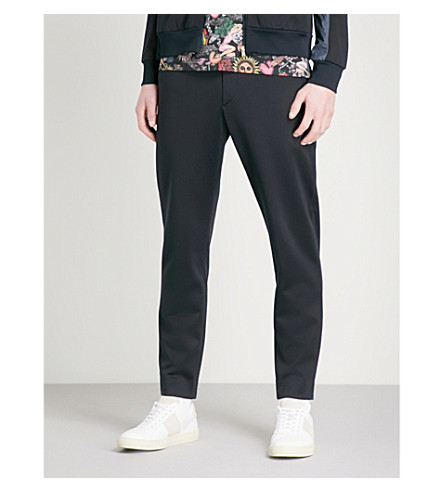 PAUL SMITH Regular-fit tapered cotton-blend jogging trousers (Navy
