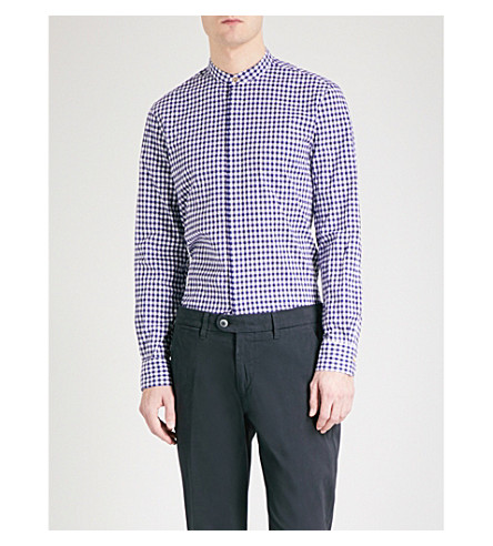 PAUL SMITH Tailored-fit cotton shirt (Navy