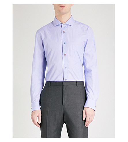 PAUL SMITH Soho-fit cotton-twill shirt (Blue