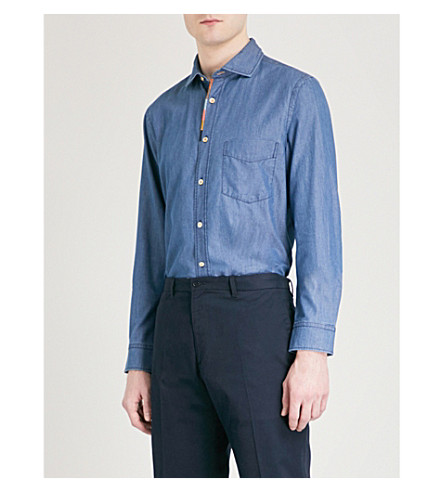 PAUL SMITH Artist Stripe regular-fit denim shirt (Indigo