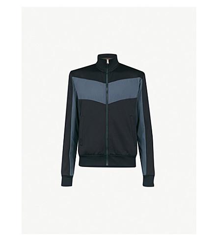 PAUL SMITH Funnel-neck cotton-blend jacket (Navy