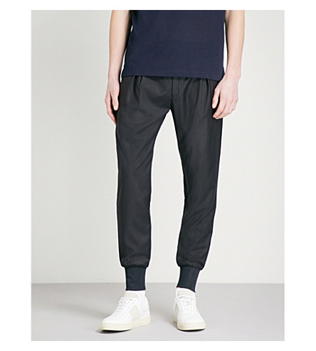PAUL SMITH Relaxed-fit wool jogging trousers (Navy