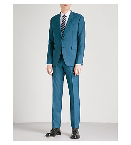 PAUL SMITH Kensington-fit wool and silk-blend suit (Green