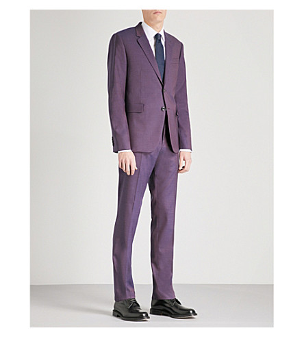 PAUL SMITH Kensington-fit wool and silk-blend suit (Dark+pink