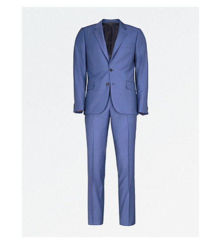 PAUL SMITH Sharkskin soho-fit wool suit (Blue